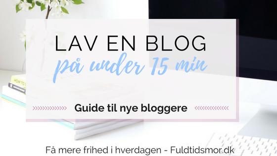 opret en blog